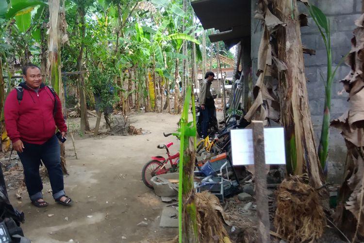 Rumah G, terduga teroris yang diamankan Densus 88 di Pleret, Bantul