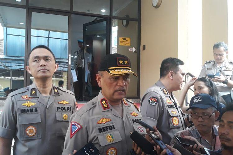 Kepala Korps Lalu-lintas Kepolisian Indonesia Inspektur Jenderal Polisi Refdi Andri di Gedung Rupatama Mabes Polri, Jakarta Selatan, Selasa (7/5/2019).