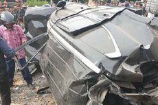 Pajero Sport Disambar Kereta Api di Surabaya, Satu Keluarga Tewas