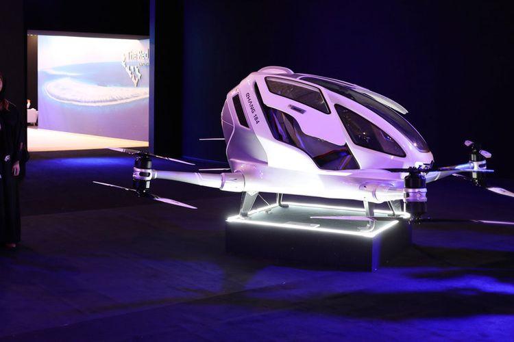Taksi drone yang rencananya akan digunakan di dalam megacity Neom