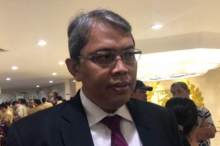 Penasihat Fraksi Partai Keadilan Sejahtera (PKS) DPRD DKI Jakarta Triwisaksana di Gedung DPRD DKI, Jalan Kebon Sirih, Senin (27/8/2018).