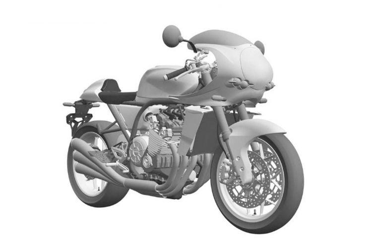 Gambar desain calon motor Honda berdesain retro yang terinspirasi Honda CBX