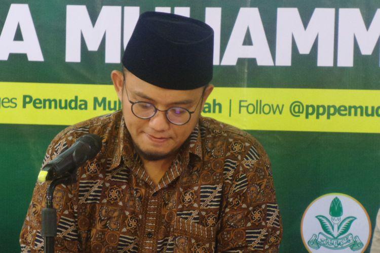 Ketua PP Pemuda Muhammadiyah Dahnil Anzar Simanjuntak dalam diskusi di Gedung Dakwah Muhammadiyah, Jakarta, Rabu (26/7/2017).
