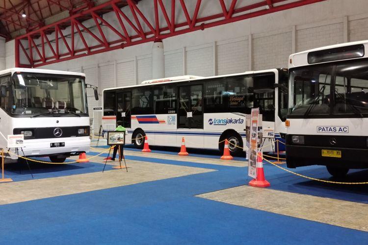 Bus klasik yang bisa Anda lihat di pameran Indonesia Classic N Unique Bus (Incubus) 2018 di Hall B Jakarta International Expo, Kemayoran, Jakarta Pusat pada 22-24 Maret 2018.