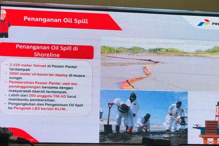 pENANGANAN OIL SPILL DI SHORELINE.