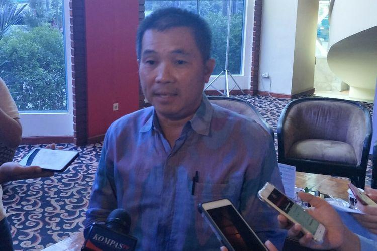Wakil Ketua Umum Asosiasi Pengusaha Ritel Indonesia (Aprindo) Tutum Rahanta di Jakarta, Rabu (16/1/2019)