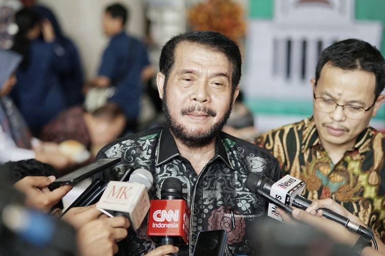 Ketua Mahkamah Konstitusi (MK) Anwar Usman saat ditemui di gedung MK, Jakarta Pusat, Senin (10/6/2019).