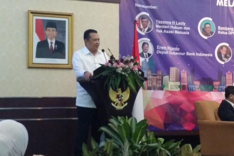 Ketua DPR RI Bambang Soesatyo di PPATK, Jakarta, Selasa (17/4/2018).