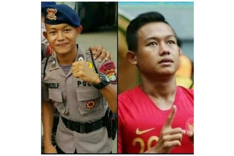 Sani Rizki Fauzi, anggota Timnas U-22 sekaligus anggota Satbrimob Polda Metro Jaya.