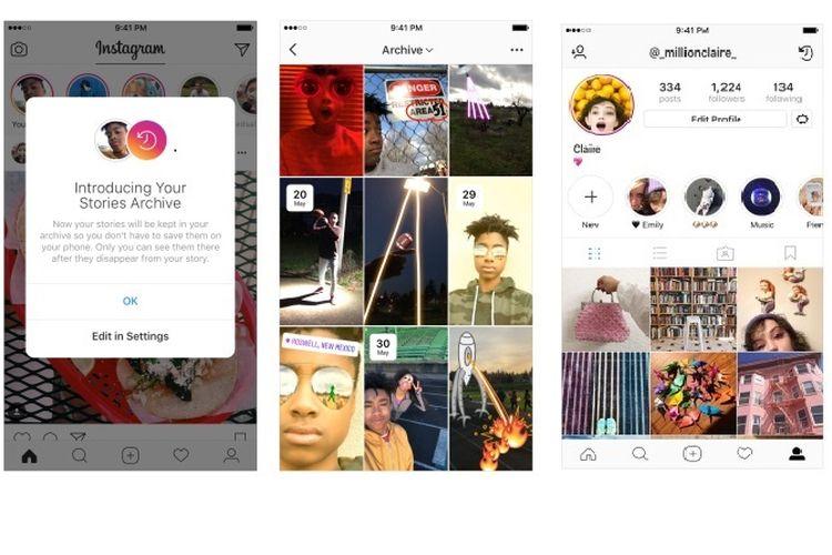 Fitur Baru di Instagram Stories Arsip dan Sorot