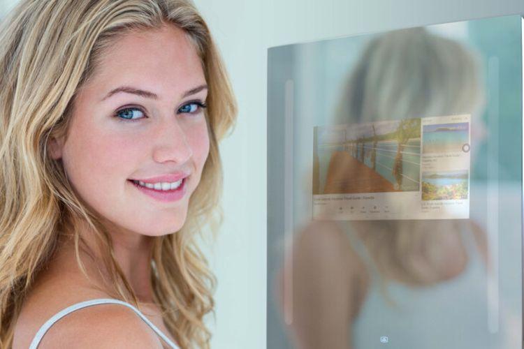 Smart Mirror atau Cermin Pintar yang terkoneksi dengan Google