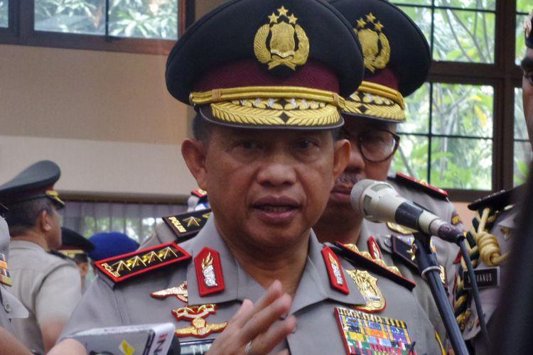 Kapolri Jenderal Pol Tito Karnavian di Rupatama Mabes Polri, Jakarta, Rabu (11/1/2018)