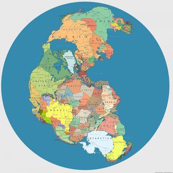ilustrasi benua super Pangea