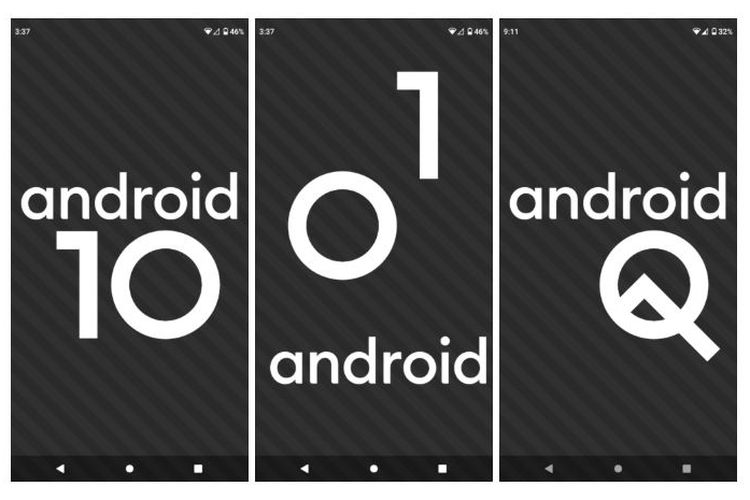 Ilustrasi Easter Egg Android Q