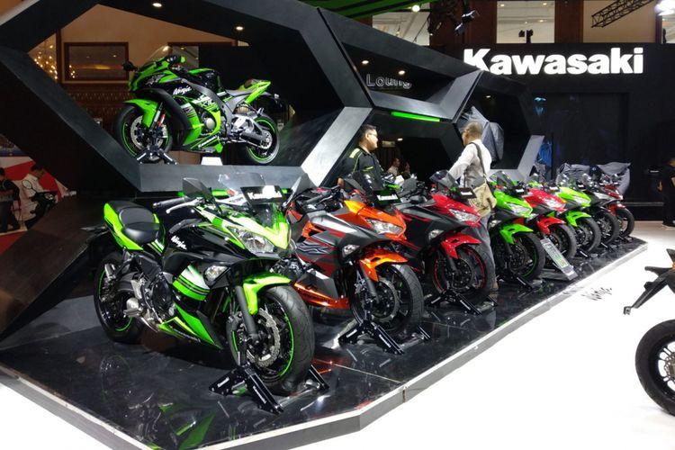 Kawasaki membawa deretan produk mereka di Imos 2018