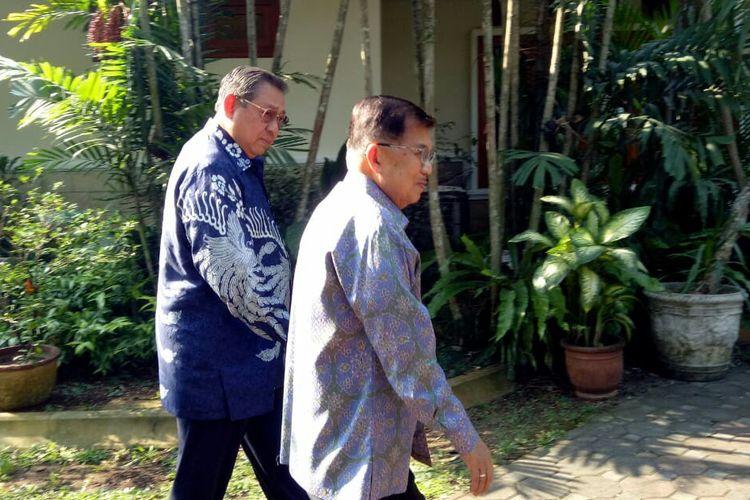 Wakil Presiden Jusuf Kalla meyambangi SBY
