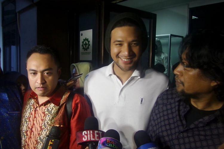 Ammar Zoni usai tes assessment di Gedung BNN, Cawang, Jakarta Timur, Jumat (14/7/2017).