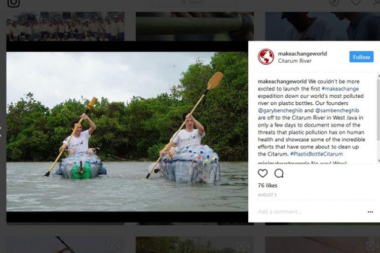 Aktivitas Gary Bencheghib dan Sam Bencheghib di Sungai Citarum