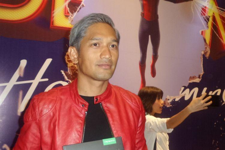 Ibnu Jamil hadir dalam acara pemutaran perdana film Spiderman Homecoming di Gandaria City XXI, Jakarta Selatan, pada Selasa (4/7/2017).