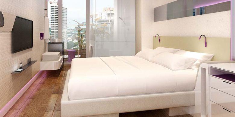 Kamar di Yotel Singapura