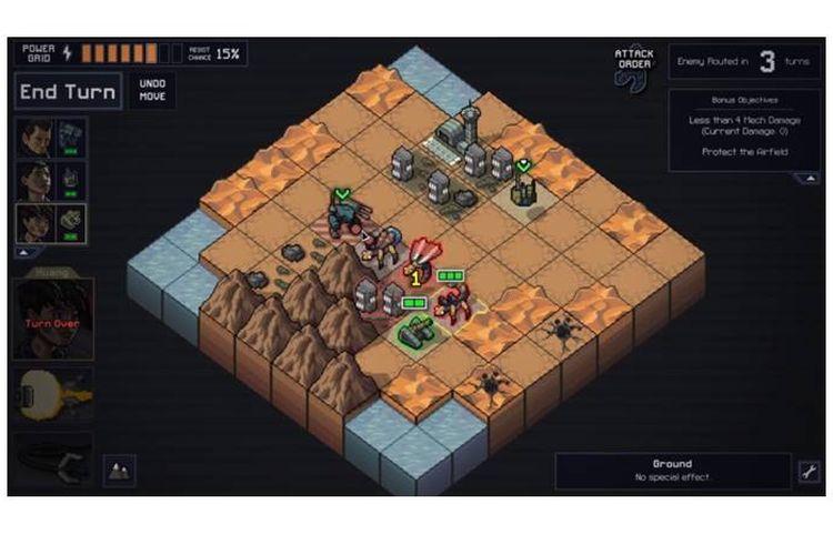 Salah satu gameplay dari Into the Breach.