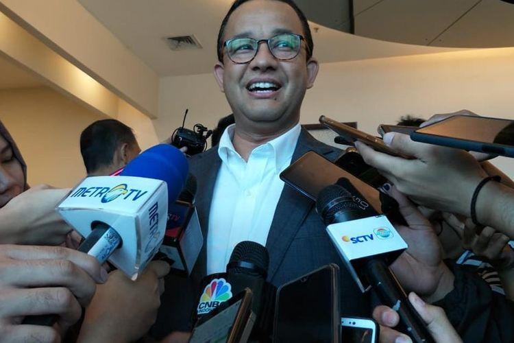Gubernur DKI Jakarta Anies Baswedan di Kasablanka Hall, Jakarta Selatan, Sabtu (10/8/2019)(RYANA ARYADITA UMASUGI