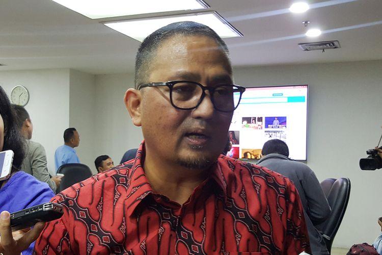 Dirjen Aptika Kominfo, Semuel Pangerapan di kantor Kominfo, Rabu (8/11/2017).