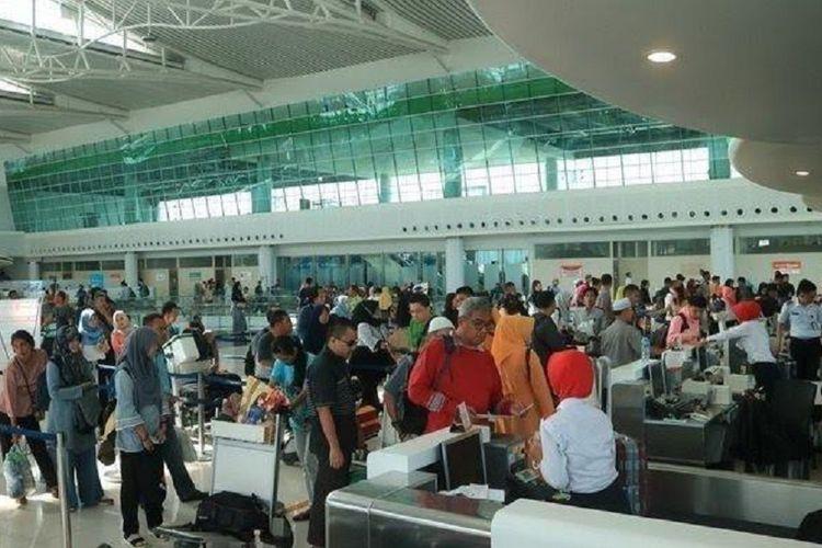 Suasana Bandara SAMS Sepinggan Balikpapan, Jumat (14/6/2019).