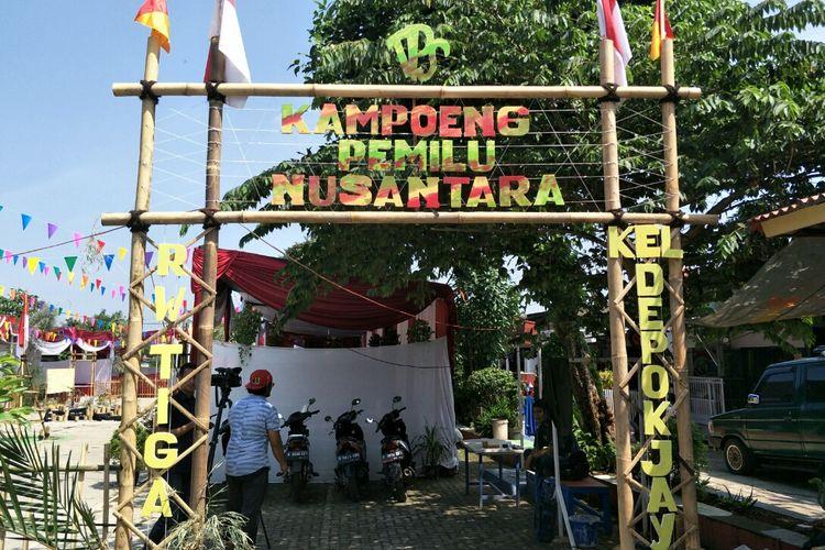 Tps unik di Depok Jaya, Pancoran Mas, Depok, Selasa (15/4/2019).