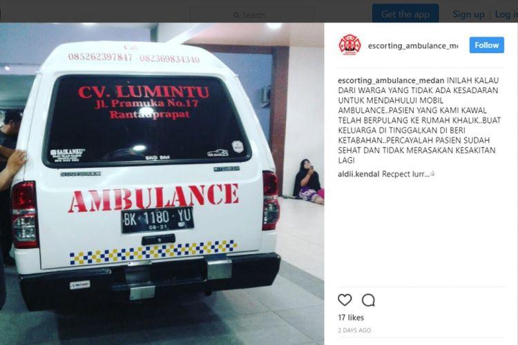 Cerita Escort_ambulance_medan saat mobil berisi pasien sekarat dihalang-halangi pengendara lain