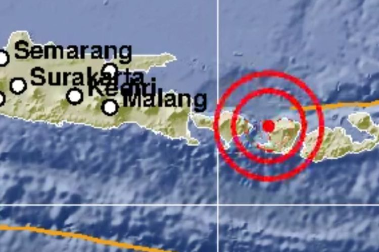 Gempa bumi bermagnitudo 5.7 mengguncang wilayah Nusa Tenggara Barat, Kamis (6/12/2018) pagi.