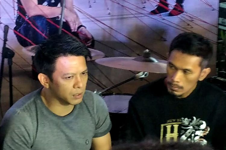 Ariel dan Lukman Noah Saat ditemui di kawasan Kebayoran Baru, Jakarta Selatan, Rabu (14/8/2019).