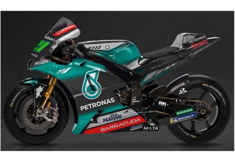 Tim Petronas Yamaha SRT memperlihatkan warna motor mereka untuk kompetisi MotoGP 2019