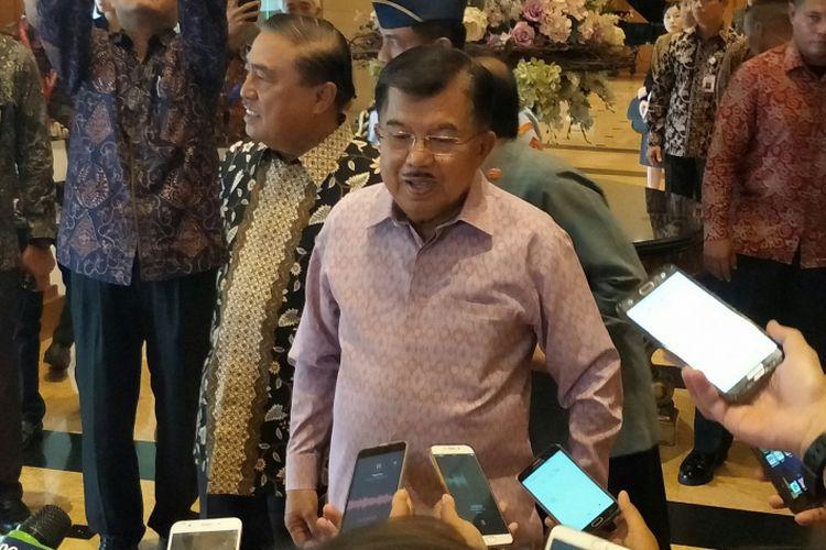 Wakil Presiden Jusuf Kalla di Hitam Aryaduta, Jakarta, Senin (26/2?2018)