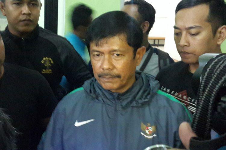 Pelatih Timnas U-19 Indra Sjafri saat ditemui usai laga uji coba di Stadion Gajayana, Kota Malang, Selasa (20/6/2017).