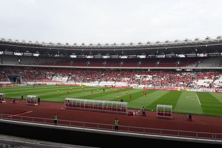 Laga lanjutan Piala AFC antara Persija Jakarta vs Ceres Negros di Stadion Utama Gelora Bung Karno, Jakarta, Selasa (23/4/2019) sore.