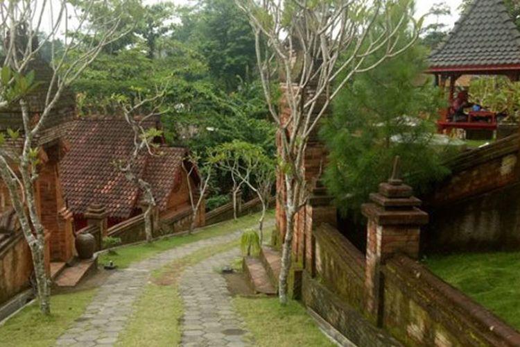 Satu di antara sudut Jiwangga Resto di Bromonilan, Purwomartani, Kalasan, Sleman, DI Yogyakarta yang menawarkan suasana kerajaan Majapahit Kuno