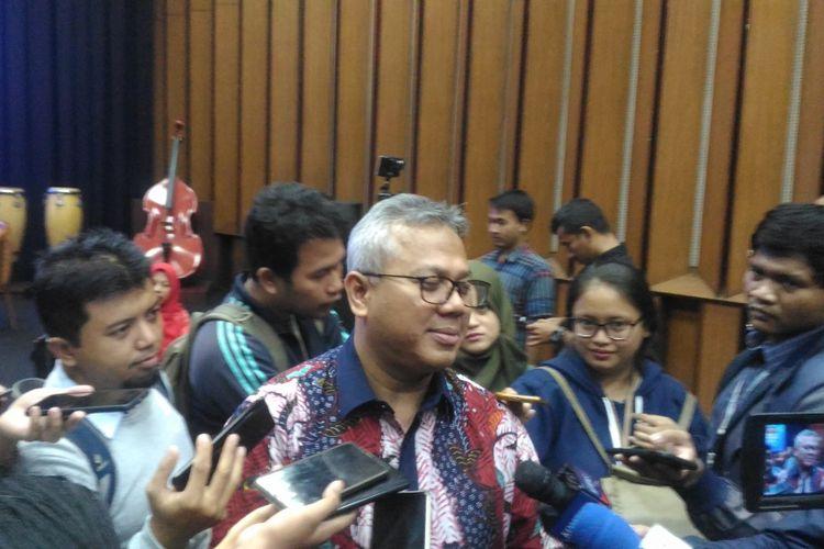 Ketua KPU Arief Budiman saat ditemui di Gedung RRI, Jakarta, Selasa (29/1/2019).