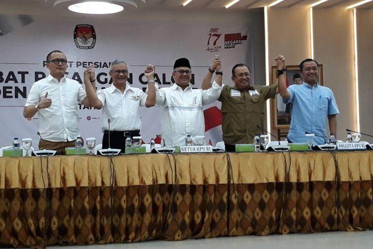 Rapat persiapan debat untuk pasangan calon presiden dan calon wakil presiden Pemilu 2019 di kantor KPU, Menteng, Jakarta Pusat, Sabtu (5/1/2019).