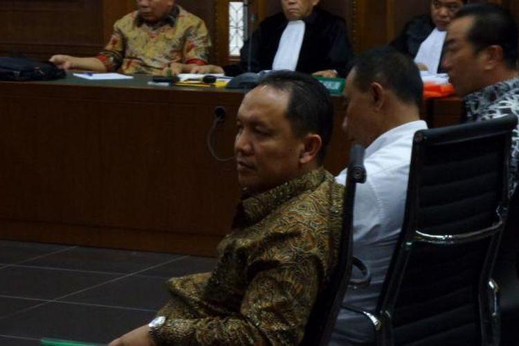 Bupati Halmahera Timur Rudi Erawan menjadi saksi di Pengadilan Tipikor Jakarta, Senin (13/2/2017).