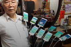 Kakek Ini Pasang 11 Ponsel di Sepeda Demi Main Pokemon Go
