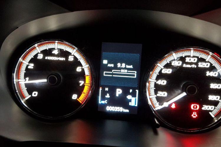 Rata-rata konsumsi BBM Xpander, setelah menempuh 208,9 km, antara Jakarta-Bandar Lampung.