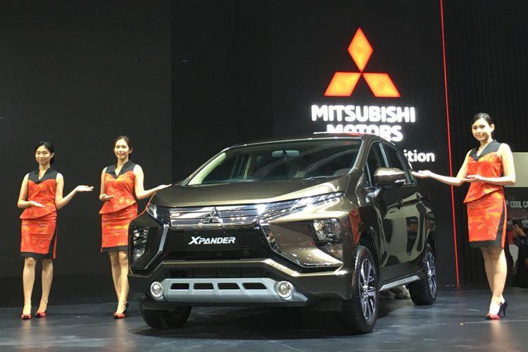 Mitsubishi meluncurkan dua varian baru Xpander, termasuk pilihan warna baru coklat metalik di GIIAS, Kamis (2/8/2018)