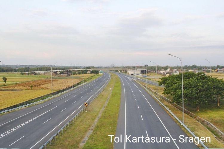 Jalan Tol Kartasura - Sragen di Jawa Tengah.