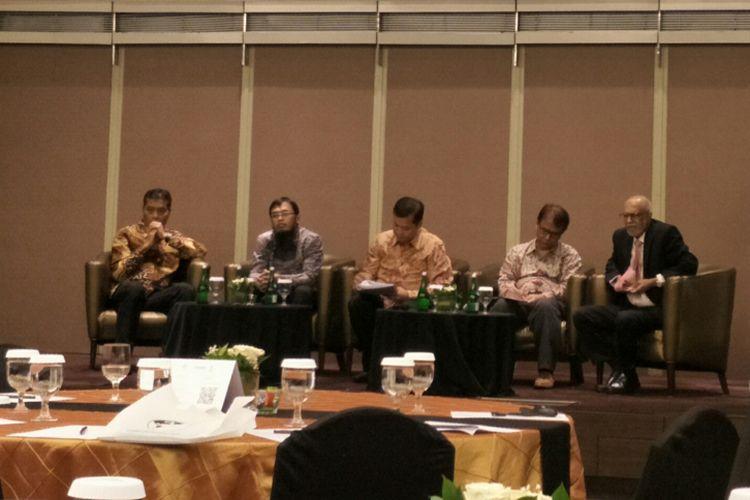 Acara diskusi Aktivitas Politik Perusahaan di Negara Berkembang, Jakarta, Kamis (8/11/2018)