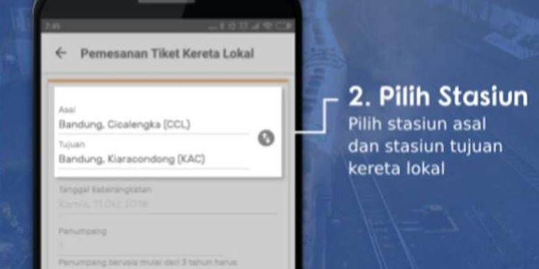 Bagi Warga Bandung Kini Tiket Kereta Lokal Bisa Dipesan Via