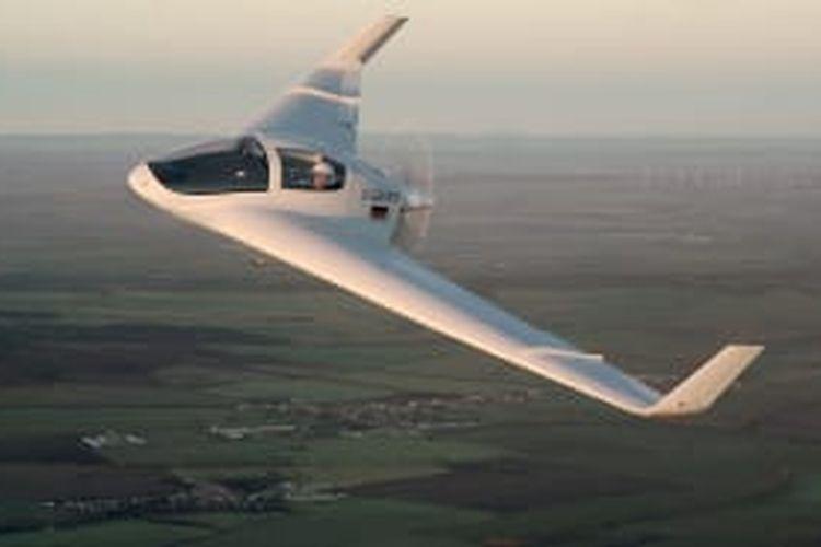 Prototipe flying wing atau sayap terbang.