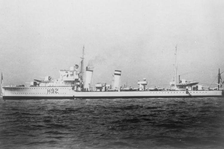 Kapal perusak AL Inggris, HMS Glowworm.