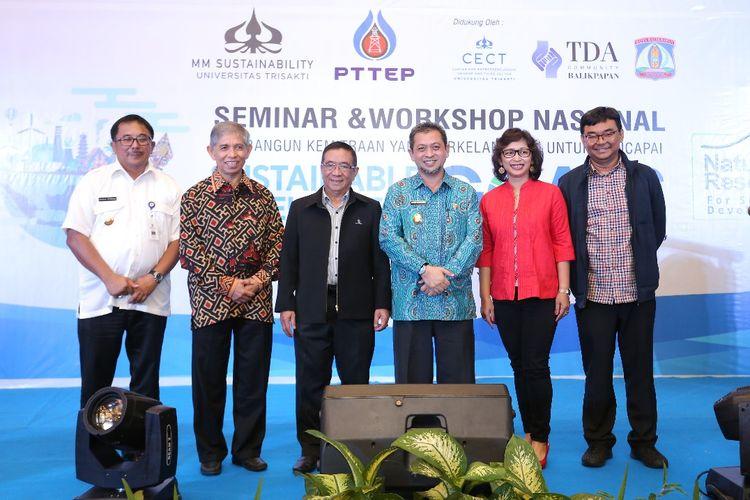 Seminar Tujuan Pembangunan Berkelanjutan (SDGs) yang diselenggarakan oleh PTTEP dan Universitas Trisakti di Balikpapan, Kalimantan Timur.