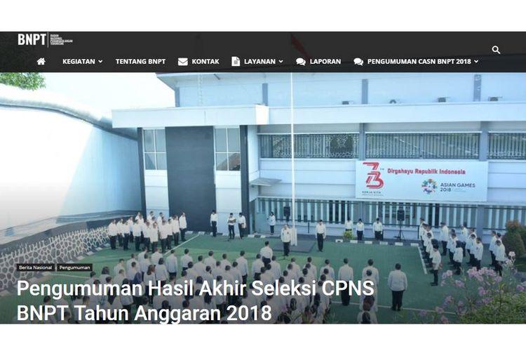Pengumuman Hasil Akhir CPNS BNPT 2018